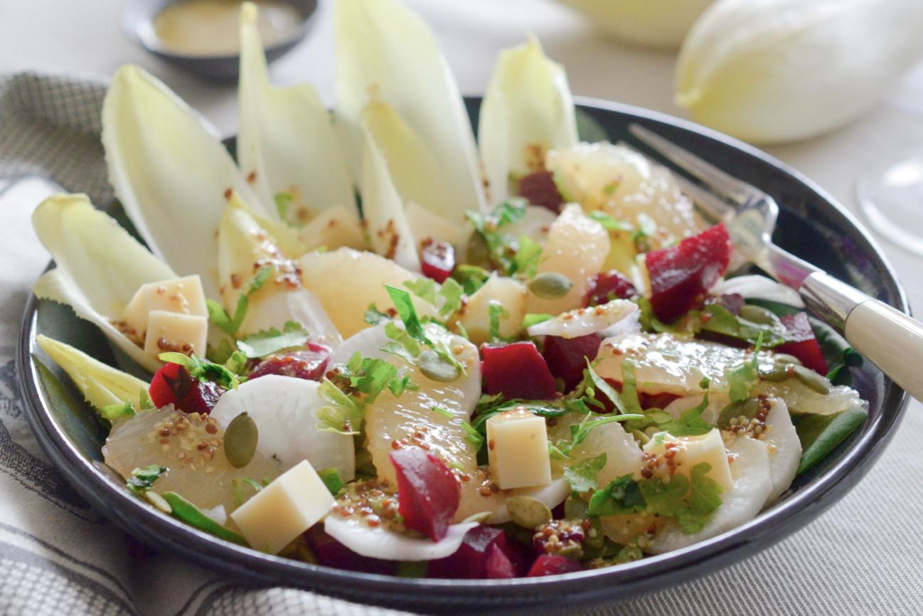 Salade endives et munster