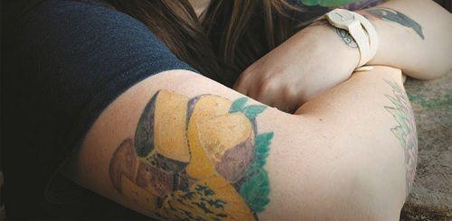 Wheels of cheese tattoo