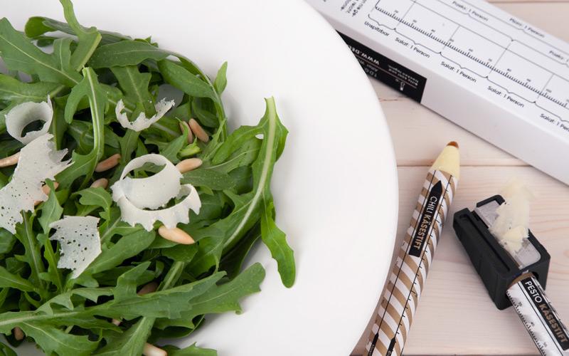 Parmesan Pencil in salad